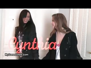 Hot brunette lesbians get horny making part4
