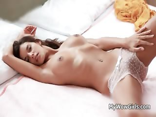 Erotic girl loves massaging her own part2