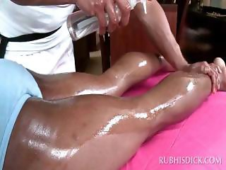 Full body massage with afro gay