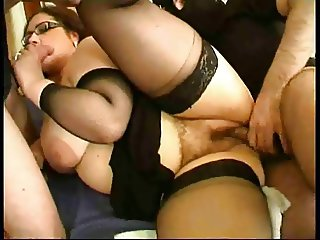 Good french chubby girl fucked in high heels