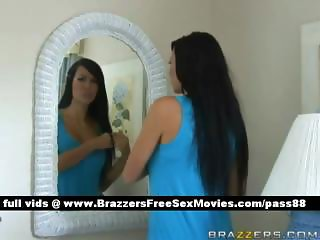 Amateur brunette babe in her room gets a guy in