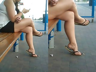 Candid Sexy Feet Shoes collection 4