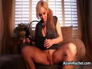 Hot blonde babe goes crazy masturbating part6