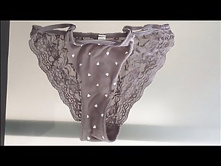 Grey Panty Cumshot 06