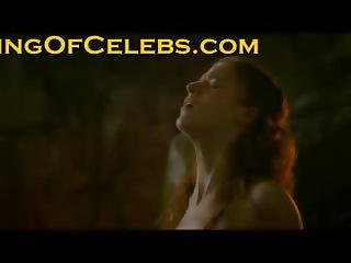 Rose Leslie very hot naked body in a sex scene