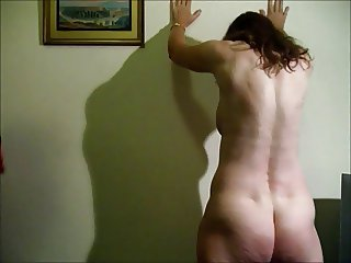 Buttock Flogging for Nude Wife