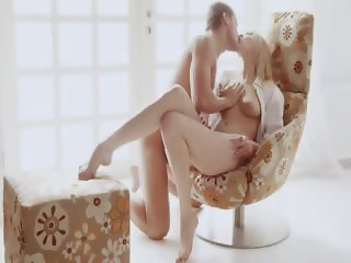 Luxury art fuck on the special chair