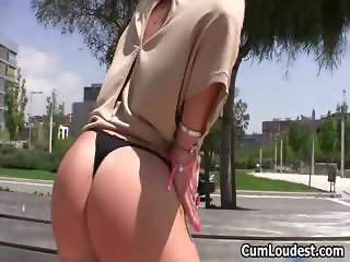 Nasty blonde whore get her tits sucked part4