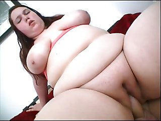 Fat Brunette Titfucks and Gets Plowed