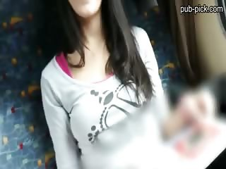 Perfect tits and ass chick sex on train