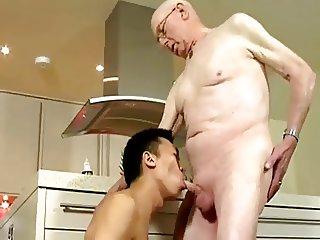 Grandpa and young man