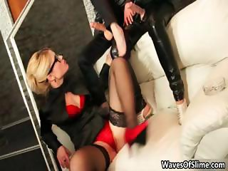 Hot blonde babe rides an hard cock part6