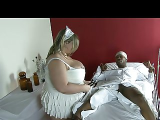 Chubby Blonde Fetish Slut takes BBC in Hospital