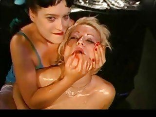 Two Kinky Busty Germans Covered in Cum Zdonk