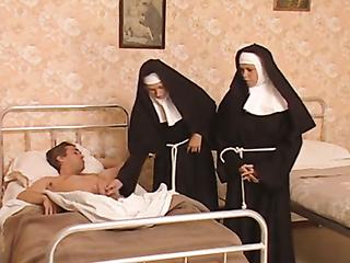 Vintage nuns trio