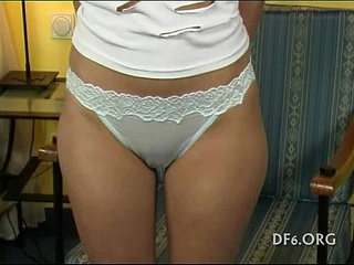 Sabrina in white panties