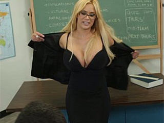 Big boobs professor