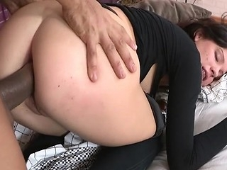 Big black cock in fat amateur ass