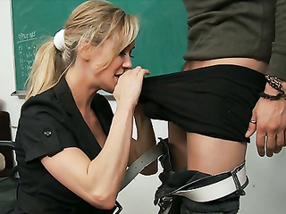 Cockhungry blonde teacher