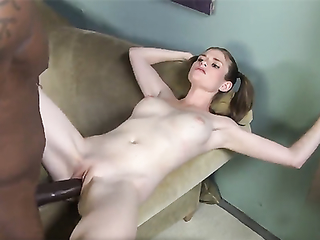 Kate England drilled by huge black cock