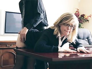 A perfect story of seducing blonde milf to anal sex